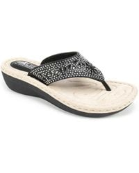 White Mountain Footwear - Carlotta Wedge Sandal - Lyst