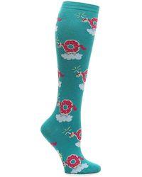 Sock It To Me Donuticorn Knee Socks - Green
