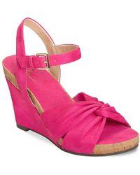 A2 By Aerosoles Coral Plush Wedge Sandal - Pink
