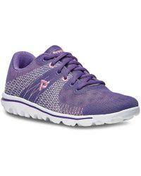 Propet | Travelactiv Knit Walking Shoe | Lyst