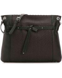 Perlina - Shine Ii Leather Crossbody Bag - Lyst
