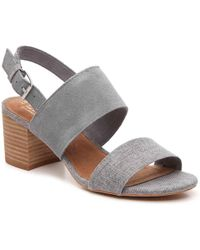 2fd857039e9 TOMS Metallic Suede Wedge Espadrille Wedding Sandal in Natural - Lyst