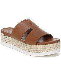 Franco Sarto Kenny Espadrille Platform Sandals - Brown
