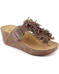 David Tate Fiesta Wedge Sandal - Brown