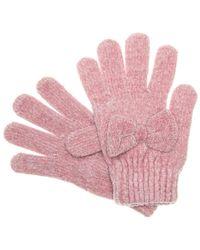 Betsey Johnson Bownanza Gloves - Pink
