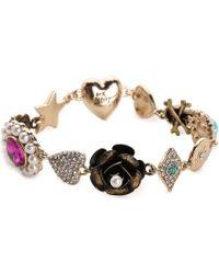 Betsey Johnson - Flower Bracelet - Lyst
