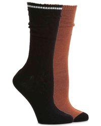 Steve Madden - Colorblock Cable Crew Socks - Lyst