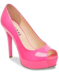 Guess | Patches Platform Pump | Lyst