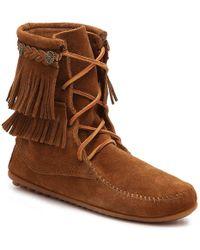 Minnetonka - Ankle Hi Tramper Western Bootie - Lyst