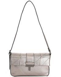 Tahari Leather Shoulder Bag - Metallic
