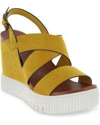 MIA Sunrise Wedge Sandal - Yellow