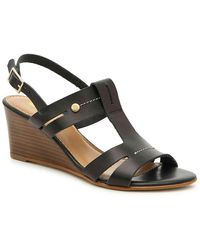 Coach and Four Prato Wedge Sandal - Black