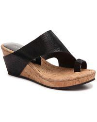 Donald J Pliner Gyer Wedge Sandal - Black