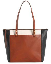 Fossil - Ana Leather Tote - Lyst