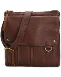 Fossil - Morgan Leather Crossbody Bag - Lyst
