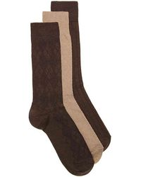 Cole Haan - Argyle Textured Dress Socks - Lyst