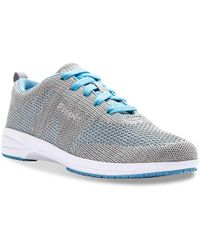 Propet Washable Walker Work Sneaker - Blue