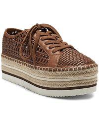 Vince Camuto Kemmiy Espadrille Platform Sneaker - Brown