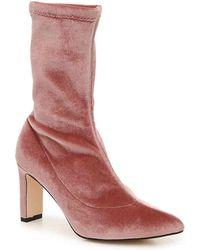 154281a57 Lyst - Sam Edelman Karen Suede Booties - Candy Pink in Pink