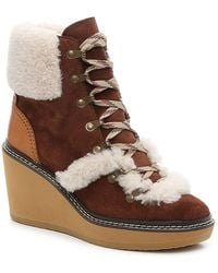 See By Chloé Sb Wedge Bootie - Brown