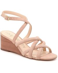 Sole Society Khalessia Wedge Sandal - Pink