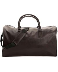 Kenneth Cole Reaction I'm Duffed Leather Weekender Bag - Brown