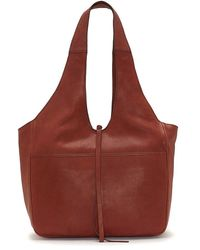 Lucky Brand Rhyn Leather Hobo Bag - Red