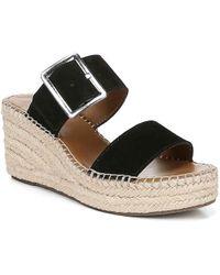 Franco Sarto Coastal Espadrille Wedge Sandal - Black