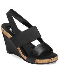 A2 By Aerosoles Bone Plush Wedge Sandal - Black