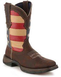 Durango Patriotic Cowboy Boot - Brown