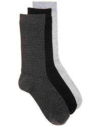 Nine West Diamond Crew Socks - Gray