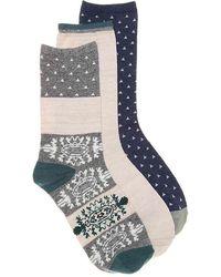 Lucky Brand - Geometric Crew Socks - Lyst