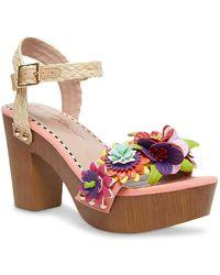 Betsey Johnson Nashla Platform Sandal - Pink
