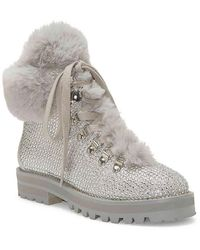 Jessica Simpson Norina Embellished Hiker Booties - Metallic