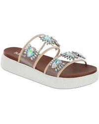MIA Galina Platform Sandal - White
