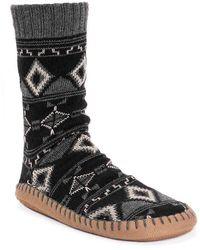 Muk Luks Sock Slipper - Black
