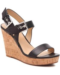 Nine West Scarlett Wedge Sandal - Black