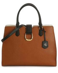 Lauren by Ralph Lauren City Leather Satchel - Brown