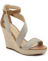 Jessica Simpson Joseppa 2 Espadrille Wedge Sandal - Metallic