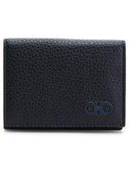 Ferragamo Firenze Glow Leather Bifold Wallet - Blue