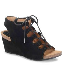 Söfft - Maize Ghillie Lace Wedge Sandal - Lyst