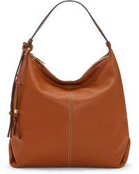 Vince Camuto Corin Leather Hobo Bag - Brown