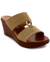 Italian Shoemakers Elly Wedge Sandal - Brown