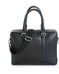 Cole Haan - Buckle Leather Laptop Messenger Bag - Lyst