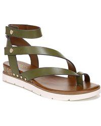 Franco Sarto Daven Wedge Gladiator Sandal - Green