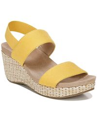 LifeStride Delta Medium/wide Wedge Sandals - Yellow