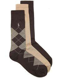 Polo Ralph Lauren - Argyle Dress Socks - Lyst