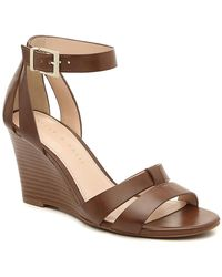 Kelly & Katie Heister Wedge Sandal - Brown