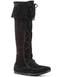 Minnetonka - Front Lace Boot - Lyst