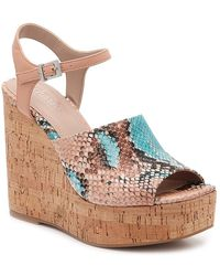 Charles David Dory Wedge Sandal - Natural